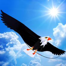 2m 3D Eagle Kite Desert Eagle With Handle Line Front Rod Easy Control High Quality toys Outdoor Sport kites For Fun Gift(China)
