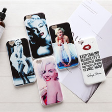 Phone Case for iphone 5 5s SE 6 6s 7 Plus Girl Marilyn Monroe Cute Cartoon Design Printing Soft Silicone Case For iphone 5s case(China)