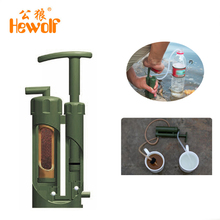 Hewolf 99.9999% Bacteria Removal Outdoor Water Filter Travel Portable Survival Purifier Camping Emergency Cleaner - Online Store store
