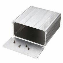 1pc Aluminum Enclosure Case Silver DIY Electronic Project PCB Instrument Box Mayitr 100x100x50mm(China)