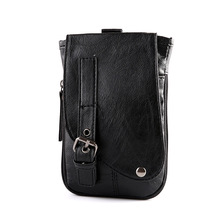 new leisure bag  usiness fashion handbags Crossbody han edition men pack Purse, cell phone package Black XY375
