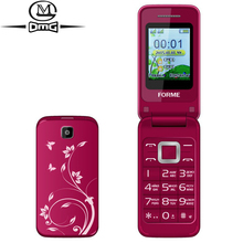 Original FORME S700 Russian keyboard Flip mobile phone Telephones Dual SIM card Big Keys Fonts FM old man cell phones