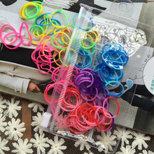 Rainbow Colors Hot Sale Mini Girls Strong Basic Elastic Hair Bands Small Kids Rubber Bands hair Accessories Good Hair Loops(China)