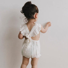 Ins Hot European&Ameria Style Kids Girl Overalls Infant Toddler Baby Ruffles Bow Rompers Cute Princess Clothings