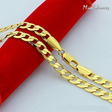 High Quality 24K Gold Necklaces Jewelry Wholesale Chain Men Necklaces