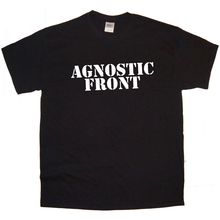 AGNOSTIC FRONT Band logo Rock Thrash Black HEAVY METAL PUNK POP t-shirt Tee T