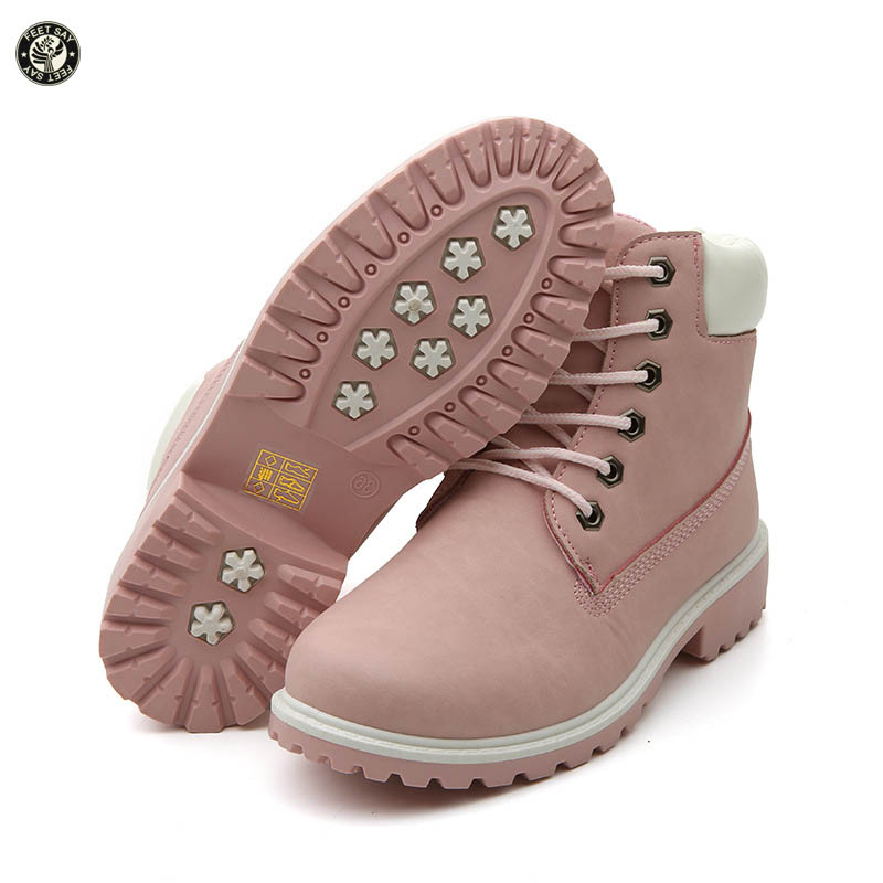 FEETSAY Womens Boots 2017 New Fashion Four Seasons Footwear Round Toe Lace Up Ankle Women Martin Boots Classic Lady Shoes <br><br>Aliexpress