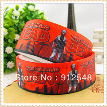 "1"" 25MM The Walking Dead Printed grosgrain ribbon, clothing accessories,DIY handmade clothing materials Materials,MD129113"
