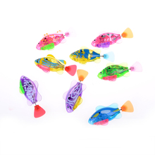Robotic Fish Activated Battery Powered Swimming Boy Bath Pet Toys Aquarium Decor Baby Kids Robot Fish Electronic Sharks Toy(China)