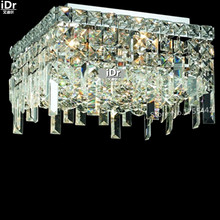 gold Ceiling Lights modern conference room lamp hallway lamp crystal lamp light retro square L36cm x H20cm(China)