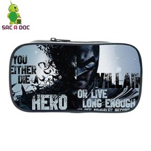 Comic Batman Bruce Joker Printing Pencil Case Teenagers Girls Boys Super Hero Stationery Supplies Bag Womens Mini Cosmetic Cases(China)