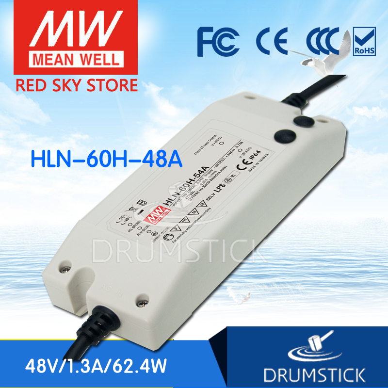 MEAN WELL HLN-60H-48A 48V 1.3A meanwell HLN-60H 48V 62.4W Single Output LED Driver Power Supply A type<br>