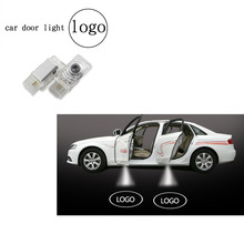 2pcs Led Car Door Logo Lights Wireless Auto Emblem Lamp Replacement Accessory for Cadillac SRX XTS SXT ATS CTS(China)