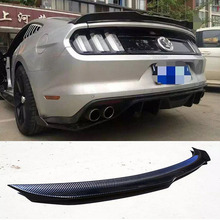 For Ford Mustang Coupe 2015-2017 Carbon Fiber Trunk Boot Lip Spoiler Wing(China)
