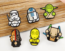 3.8cm 6pcs/lot Cartoon Star Wars Clips For Kids R2D2 Cute Darth Vader Novelty Yoda Decorative Food Bag Clips Creative Clothespin