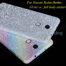 Luxury Diamond Glitter Ultra Thin Sticker for Xiaomi redmi 3s/note 3/4/pro/prime Full Coverage Skin Decal Film Matte Case Cover