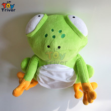 40cm Plush Big Eye Sad Green Frog Toys with Bamboo Charcoal Bag Stuffed Animal Doll Birthday Christmas Gift For Kids Baby Triver