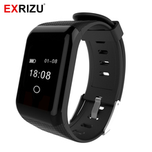 "EXRIZU 0.66"" OLED Screen Bluetooth Smart Band IP67 Pedometer Vibrate Heart Rate Monitor Wristband Oxygen Meter Health Bracelet"