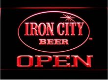 Iron City Beer OPEN Bar LED Neon Sign home decor crafts(China)