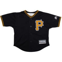 MLB Toddler Pittsburgh Pirates Baseball Black Official Cool Base Jersey(China)