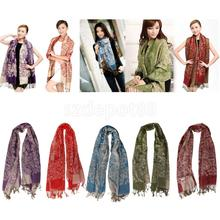 Warm Winter Women Long Cashmere Scarf Large Shawl Lady tassels Scarf Multicolor