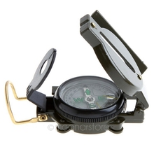 Mini Military Camping Marching Lensatic Compass Magnifier Army Green FreeShipping Wholesale