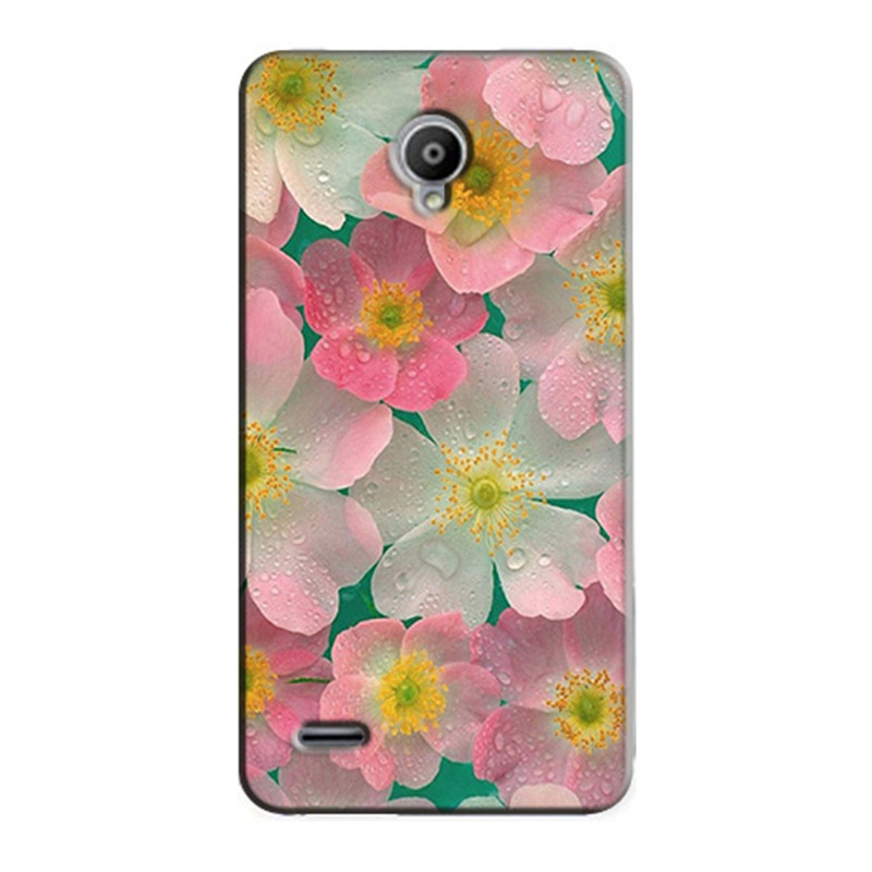 Black safflower Narcissus pattern for Vodafone Smart Prime 6 895N Case Cover soft TPU silicone phone coque fundas