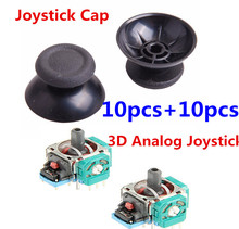 10 Sets 3D Controller Joystick Axis Analog Sensor Module Analog Joy stick Cap Cover Thumbstick Replacement For Playstation 4 PS4(China)