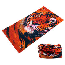 Novetly Tiger Hiphop Hijab cool Multi Function Seamless Bandana Motorcycle Face Mask Neck Scarf Tube Scarves 244(China)