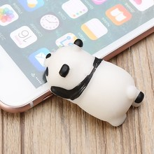 10 Pcs Simulation Cute Soft Mochi Panda Mobile Phone Straps Squeeze Child Toy Gift Collection Decoration Trinkets Bag Chain