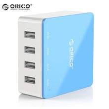 Original ORICO 4 Port USB Desktop Charger Intelligent Charging IC Power Universal For iphone Mobile Phone Tablets USB Devices