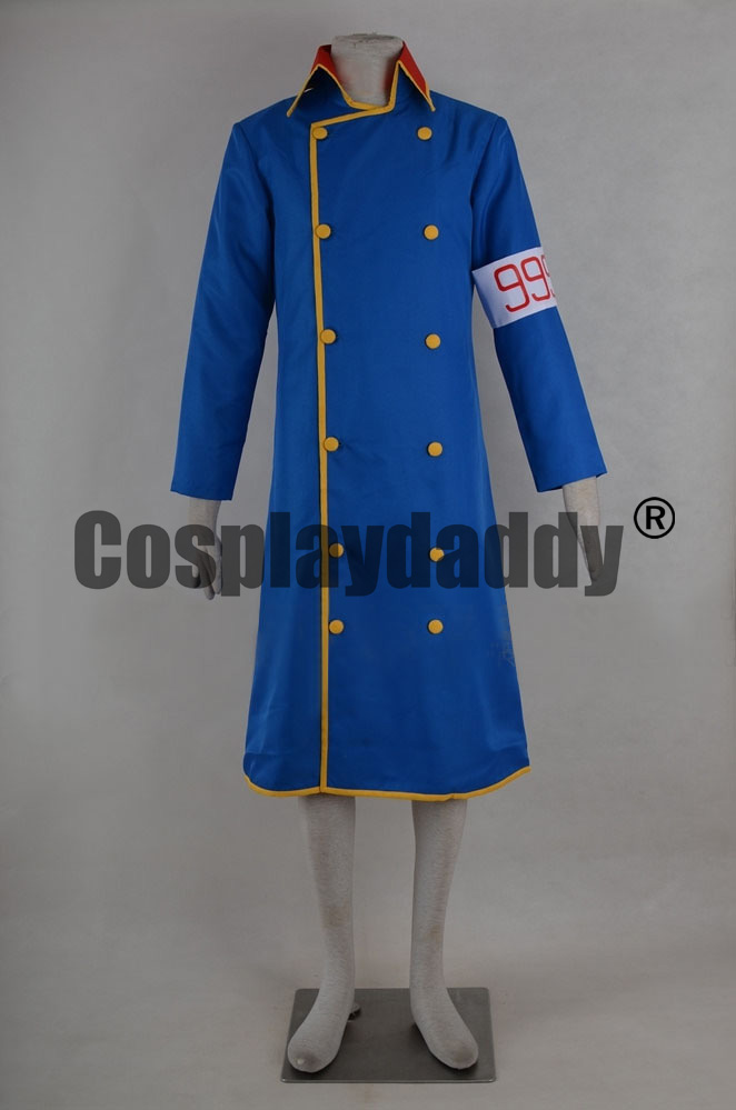 Galaxy Express 999 GE999 Galaxy Railways Conductor Blue Uniform Outfit Cosplay Costume F006