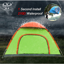 Outdoor lazy tents portable 2-4 people fully automatic fast folding waterproof beach camping hand throwing tents