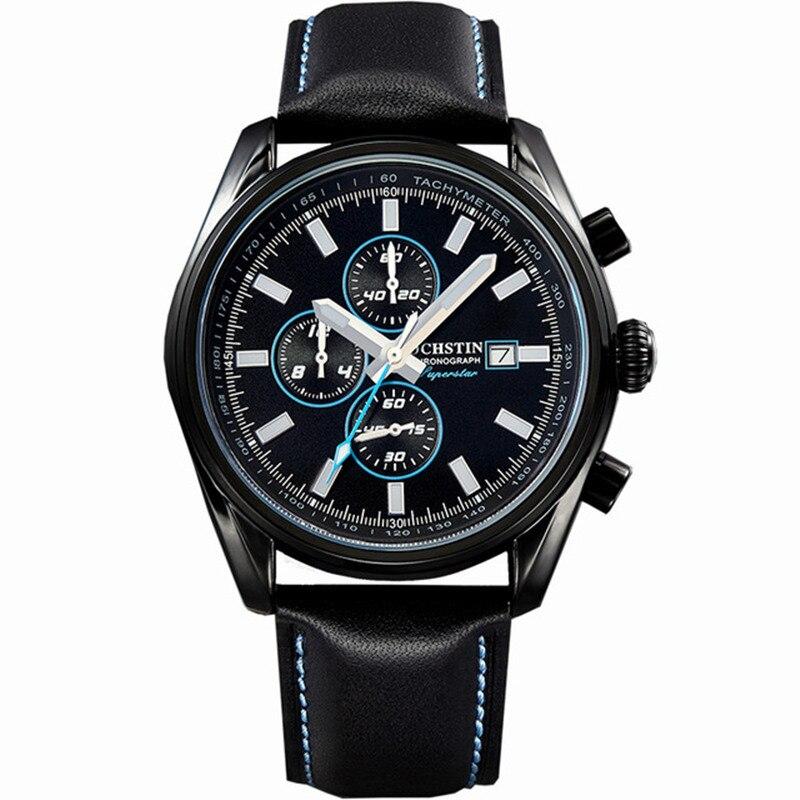 Montres OCHSTIN Chronograph Military Mens Watch 3 Workable Sub-dials Quartz Sport Watch  Men Wristwatch Male relogio masculino<br>