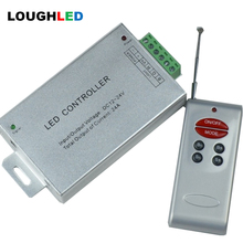 Wireless RF 6keys RGB LED Controller with remote 12A/24A DC12V~24V 144W/288W led dimmer for LED Lighting