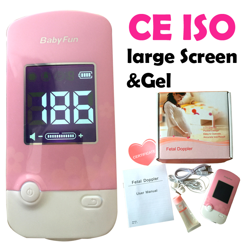 CE ISO Fetal Doppler Monitor Fetal Heart Rate Monitor for Pregnant Mother Unborn Baby  LCD Large Screen<br><br>Aliexpress