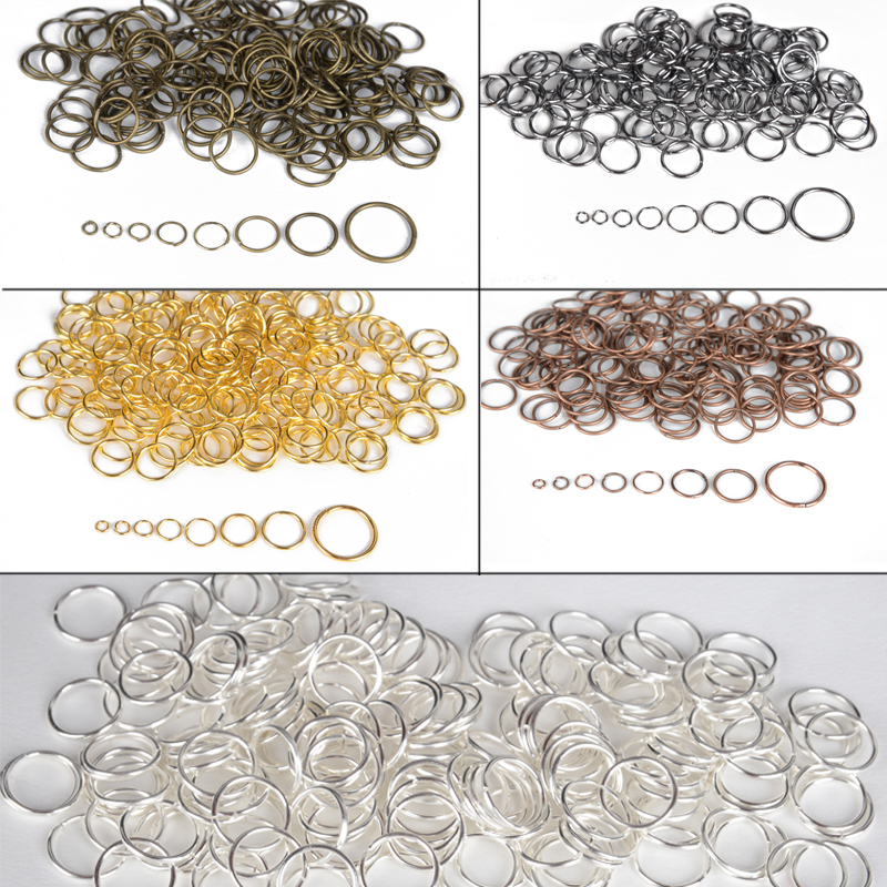 4-20mm Metal Iron Jewelry Link Vintage Loops Open Jump Rings & Split Rings For Connector Jewelry Finding DIY Making Shellhard