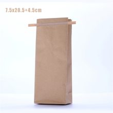 5 pcs 7.5x20.5cm Alu foil Flat Bottom Bag / Kraft Tea Pouch / Paper Tea Bags with Tin Tie/Tin tie tea bag / Alu foil kraft pouch(China)