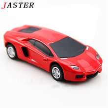 JASTER Fashion Car model USB flash drive  pendrive 4GB 8GB 16GB 32GB roadster Memory Stick sport cars pendriver wholesale