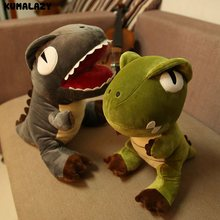 Plush Jurassic Stuffed Dinosaur TOYS 3 Style Cute Dinosaur Stuffed Animal Piollow Cushion Doll Toys Gift