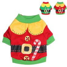 High Quality 2 Colors Christmas Santa Dog Clothes Doggy Pet Apparel Costumes Clothing Honden Kleding Dog-Winter-Clothes(China)
