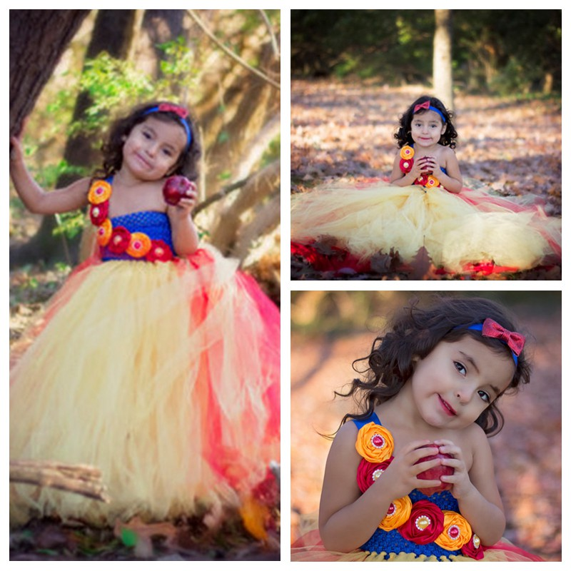 Princess Girls Tutu Dress Ankle Length Cartoon Snow White Baby Girls Ball Gown Party/Wedding/Birthday Dresses For 2-10Y PT218<br><br>Aliexpress