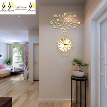 Free Shipping Watch wall clock living room clock Continental Creative clock Mute hanging Table Luminous bedroom Quartz