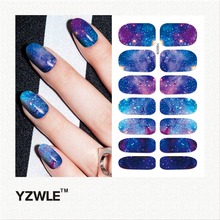 YZWLE 1 Sheet DIY Decals Nails Art Water Transfer Printing Stickers Accessories For Manicure Salon (YSD078)