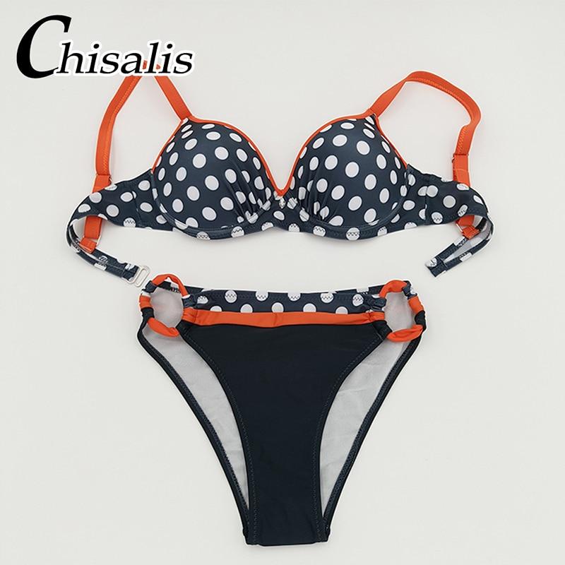 Sexy Push Up Bikini 19 Women Swimwear Print biquini femme Brazilian Bikinis Set Bathing Suit Women Beachwear Female Swimsuit 37