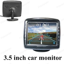 3.5 inch digital color TFT lcd for universal vehicle reversing parking backup rear view camera car monitor small display sale