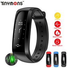 Tinymons Upgrade Big Screen M2 M2S Smart Wristband Bracelet Fitness Tracker Blood Pressure Oximeter Pedometer Smart Band Watch