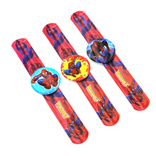 12PCS Hero Spider man Slap Bracelets Kids birthday party supply gift for boy baby shower favors souvenirs(China)