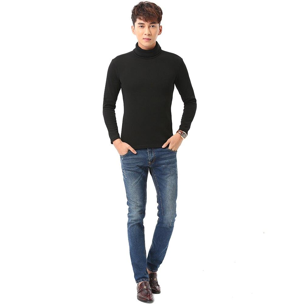 Black Turtleneck Sweater Men Pullovers Winter Thicken Underwear Mens Slim Fit Cotton Jumpers Male Turtle Neck camiseta Sweater Pull homme (6)