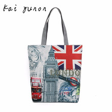 London Big Ben Canvas Tote Casual Beach Bags Women Shopping Bag Handbags Dec 20